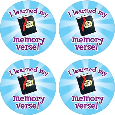Carson-Dellosa I Learned My Memory Verse Shape Stickers