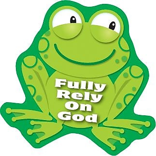 Fully Rely on God Shape Stickers, 90/Pk