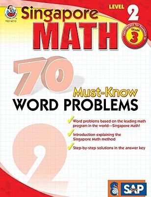 Frank Schaffer 70 Must-Know Word Problems Workbook, Grade 3