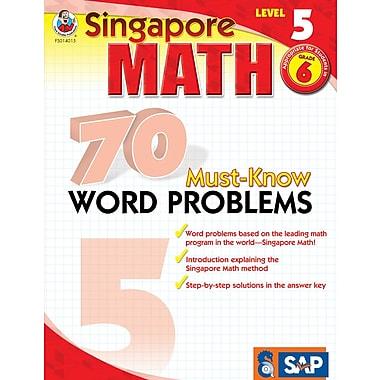 Frank Schaffer 70 Must-Know Word Problems Workbook, Grade 6