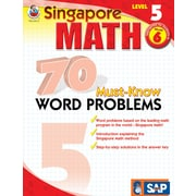Frank Schaffer 70 Must-Know Word Problems Workbook, Grade 6