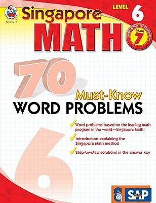 Frank Schaffer 70 Must-Know Word Problems Workbook, Grade 7