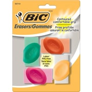 BIC® Grip Erasers, 4/Pack