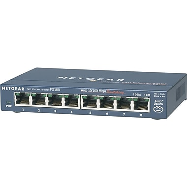 Netgear® ProSafe 8-Port 10/100 Desktop Switch