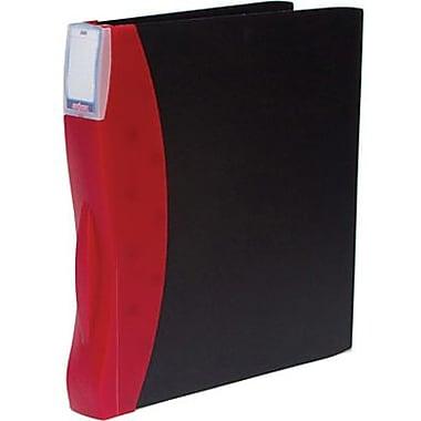 Storex - Reliure en plastique givré DuraTech, 3 po, rouge/noire