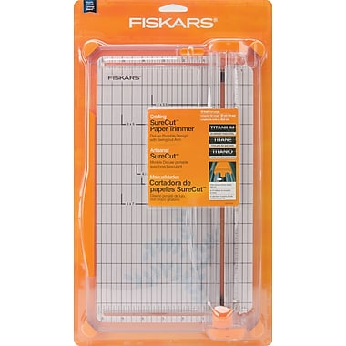 Fiskars SureCut Deluxe Paper Crafting Trimmer, 12