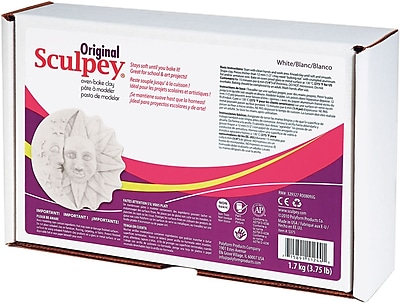 Polyform Original Sculpey, 3.75 Pounds/Pkg, White