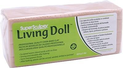Polyform Super Sculpey Living Doll Clay, 1 Pound, Beige