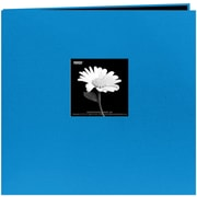"Pioneer Book Cloth Cover Postbound Album With Window, 8"" x 8"", Sky Blue"