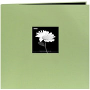 "Pioneer Book Cloth Cover Postbound Album With Window, 8"" x 8"", Sage Green"