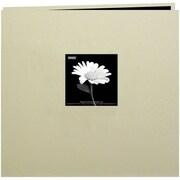 "Pioneer Book Cloth Cover Postbound Album With Window, 8"" x 8"", Biscott Beige"