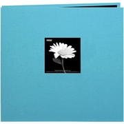 "Pioneer Book Cloth Cover Postbound Album With Window, 8"" x 8"", Turquoise Blue"
