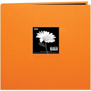 "Pioneer Book Cloth Cover Postbound Album With Window, 8"" x 8"", Orange"