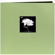 "Pioneer Book Cloth Cover Postbound Album With Window, 12"" x 12"", Sage Green"