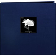"Pioneer Book Cloth Cover Postbound Album With Window, 12"" x 12"", Regal Navy"