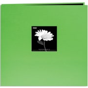 "Pioneer Book Cloth Cover Postbound Album With Window, 12"" x 12"", Citrus Green"