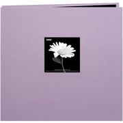 "Pioneer Book Cloth Cover Postbound Album With Window, 12"" x 12"", Misty Lilac"