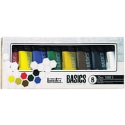 Reeves Liquitex Basics Acrylic Paint, 75ml/Tube 8/Pkg, Assorted Colors