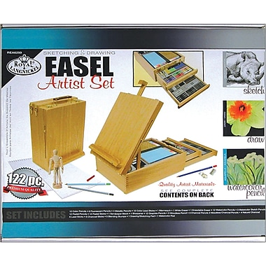 Royal brush easel artist set sketching drawing staples for Craft smart acrylic paint walmart