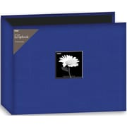 "Pioneer Fabric 3-Ring Binder Album With Window, 12"" x 12"", Blue"