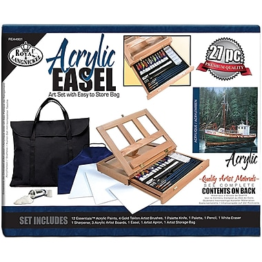Royal Brush Easel Art Set With Easy To Store Bags