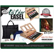 Royal Brush Easel Art Set With Easy To Store Bag, Oil Color