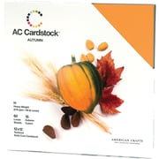 """American Crafts Cardstock Pack, 12"""" x 12"""", Autumn"""