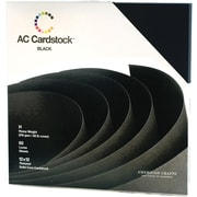 "American Crafts Cardstock Pack, 12"" x 12"", Black"