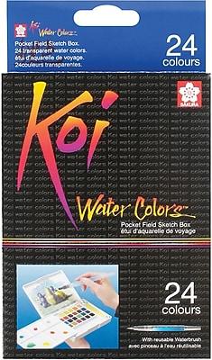 Sakura Koi Non-toxic Water Colors Pocket Field Sketch Box, 24 Colors (XNCW24N)