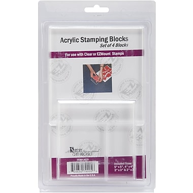 Crafter's Companion Acrylic Block Add-On, Set Of 4