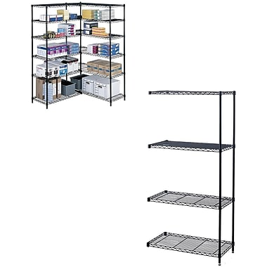 Safco® Industrial Wire Shelving, Add-On Unit, 18