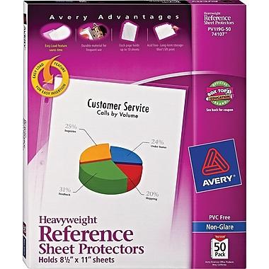 Avery® Heavyweight Sheet Protectors, Non-Glare, 50/Pack