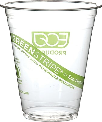 Eco-Products 10 Oz. GreenStripe® Cold Corn Cups, Clear, 1000/Pack (EP-CC10-GS)