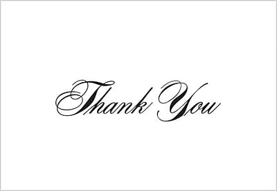 Great Papers® Black Thank You Note Cards with Envelopes