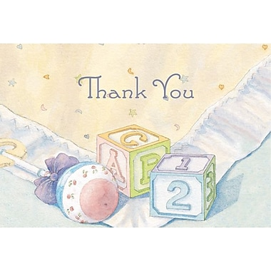 Great Papers® Baby Blocks and Quilt Thank You Note Cards and Envelopes