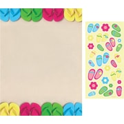 Great Papers® Bright Flip Flops Letterhead with Stickers