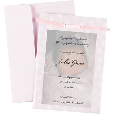 Great Papers® Baby Pink Photo Overlay Invitation Kit