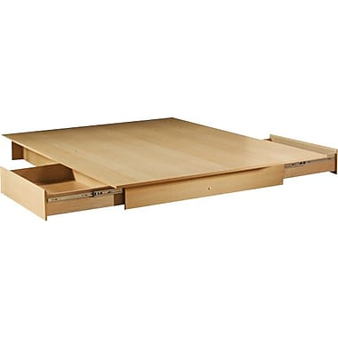South Shore City Life Collection Double/Queen Platform Bed, Natural Maple