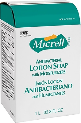 MICRELL® NXT™ Antibacterial Lotion Soap, Light Scent, Refill, 1000 ml, 8/Case