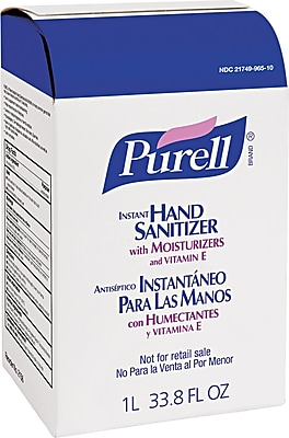 Purell® Advanced Instant Hand Sanitizer NXT, Unscented, Clear, 1000 ml Refill, 8/Pack
