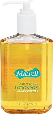 Micrell™ Antibacterial Hand Soap, Unscented, 8 oz., 12/Case