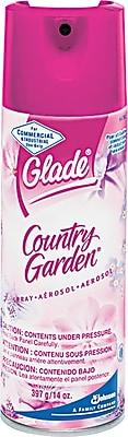 Glade® Aerosol Air Freshener, Country Garden Potpourri Scent, 13 Oz., 12/CT