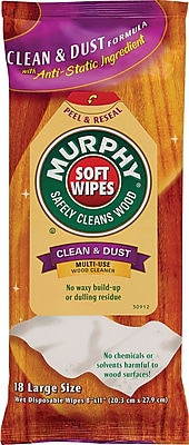 Murphy Oil Soap Cloth Soft Wipe, Unscented, White, 8