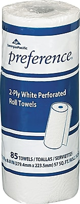 GP PRO Pacific Blue Select™ 2 Ply Perforated Roll Paper Towel, White, 85 Sheets/Roll, 30 Rolls/Case, (27385)