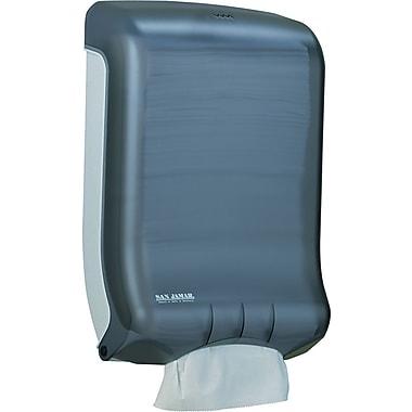 San Jamar Classic Large Capacity Ultrafold Plastic Towel Dispenser, Black Pearl, 18