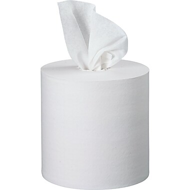 Kleenex 1-Ply Premium Center-Pull Paper Towel, White, 4 Rolls/Case