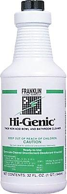 Franklin Cleaning Technology Hi-Genic Bowl And Bathroom Cleaner, Floral, Blue, 32 oz. Bottle