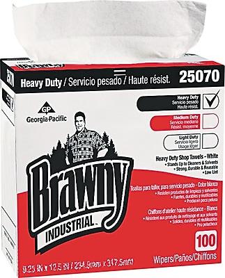 Brawny Industrial Heavy-Duty Shop Towel, Cloth, 5 Boxes/Case