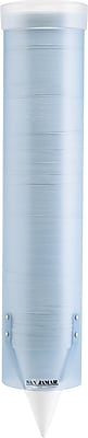 San Jamar Water Cup Dispenser With Removable Cap, Frosted Blue, Holds 4 To 10 oz. cups SJMC3165FBL