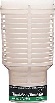 TimeMist® TimeWick Air Dispenser, Country Garden, Clear, 1.217 oz. Refill